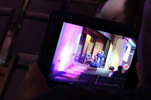 ipad taking a photo of seminar